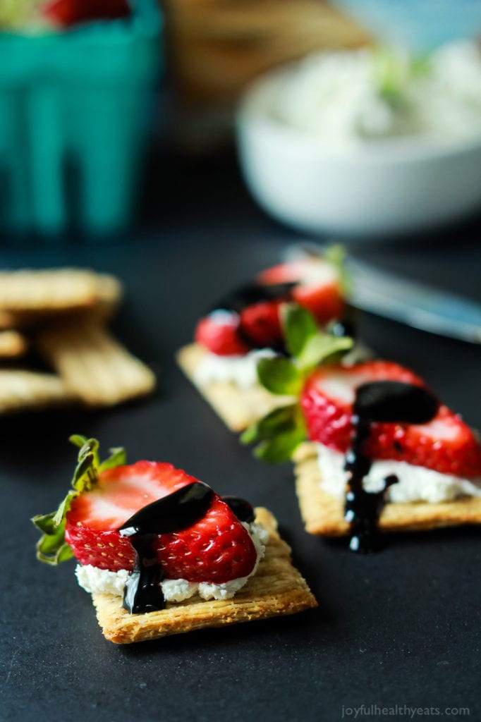 Strawberry goat cheese bites. Love this whole list of strawberry recipe ideas - something for every meal!