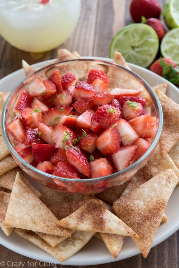 Strawberry salsa recipe. Love this whole list of strawberry recipe ideas - something for every meal!