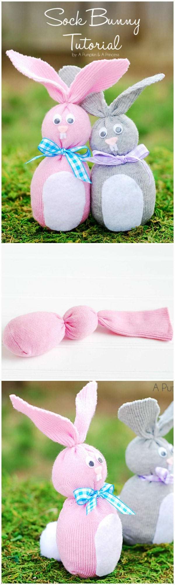 Let the kids join you in making these simple sock bunny softies. Lots of other great bunny crafts here, too.