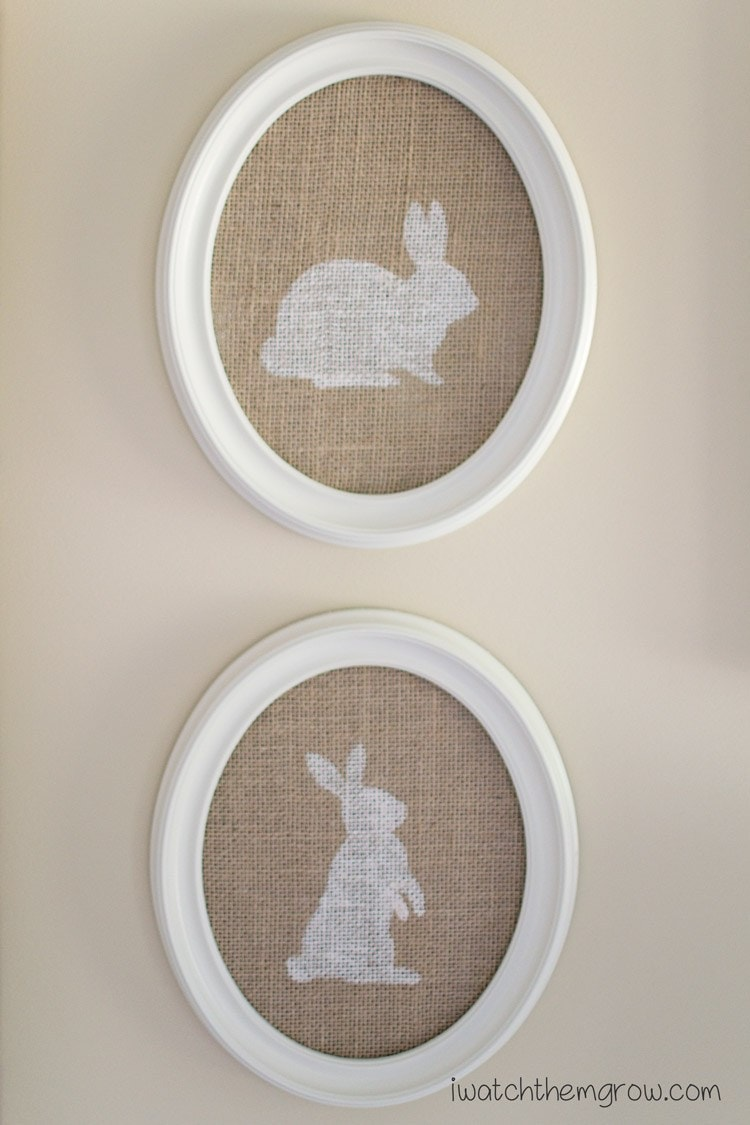 DIY farmhouse decor for Spring. Lots of other great bunny crafts here, too.