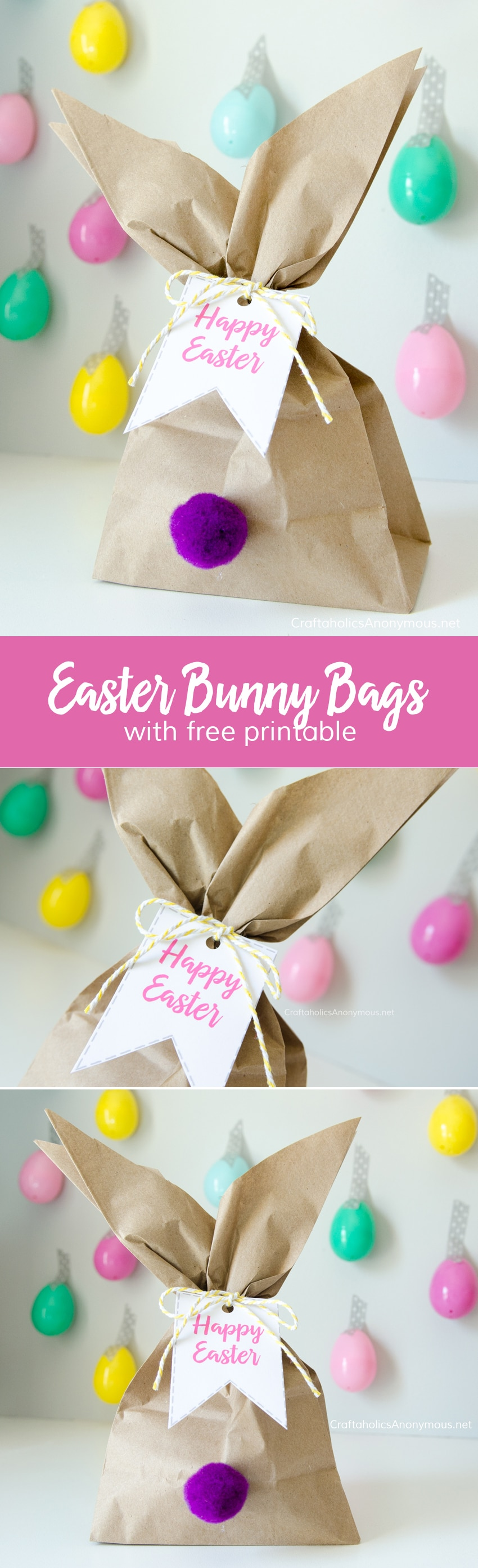 Use brown paper bags for simple favors. Lots of other great bunny craft ideas here, too.