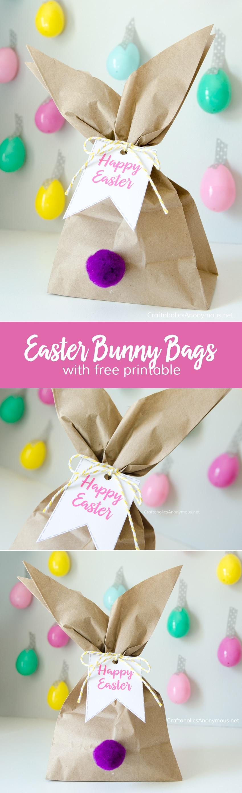 paper back bunny treat bag