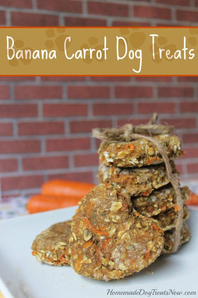 banana carrot healthy homemade dog treats