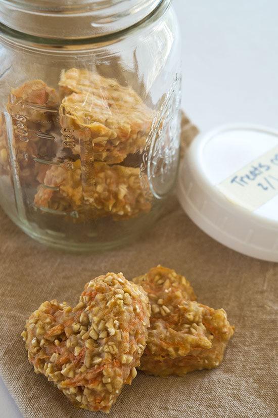 carrot oat applesauce healthy dog treats