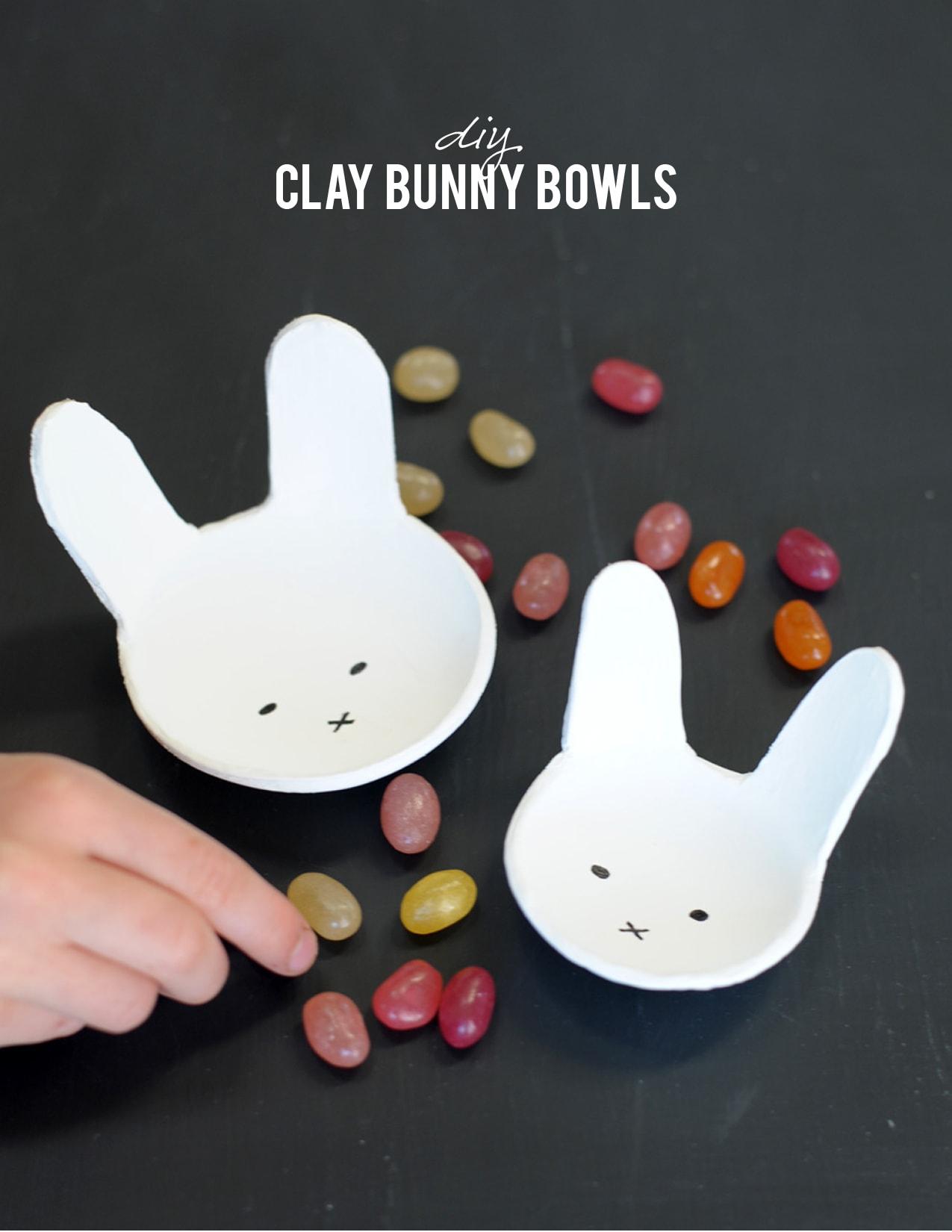 clay bunny bowl