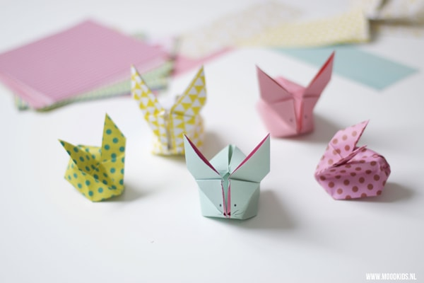 origami bunny tutorial, lots of good ones here but this one might by my favorite