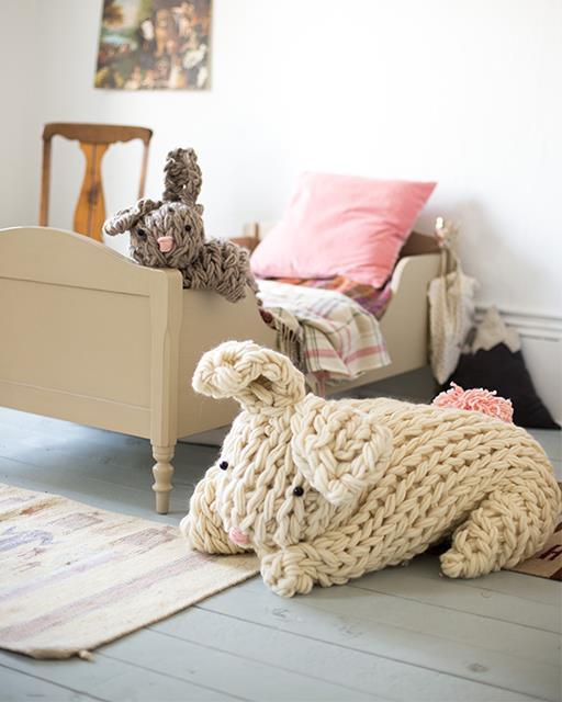 giant crochet bunny