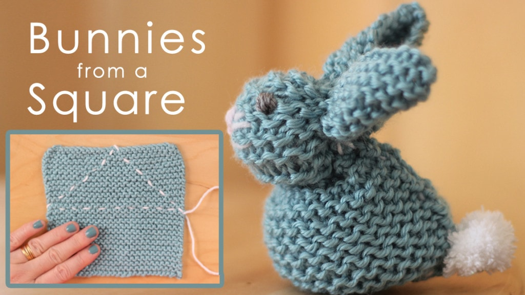 See how to make this knitted bunny softie from a simple square. Lots of other great bunny crafts here, too.