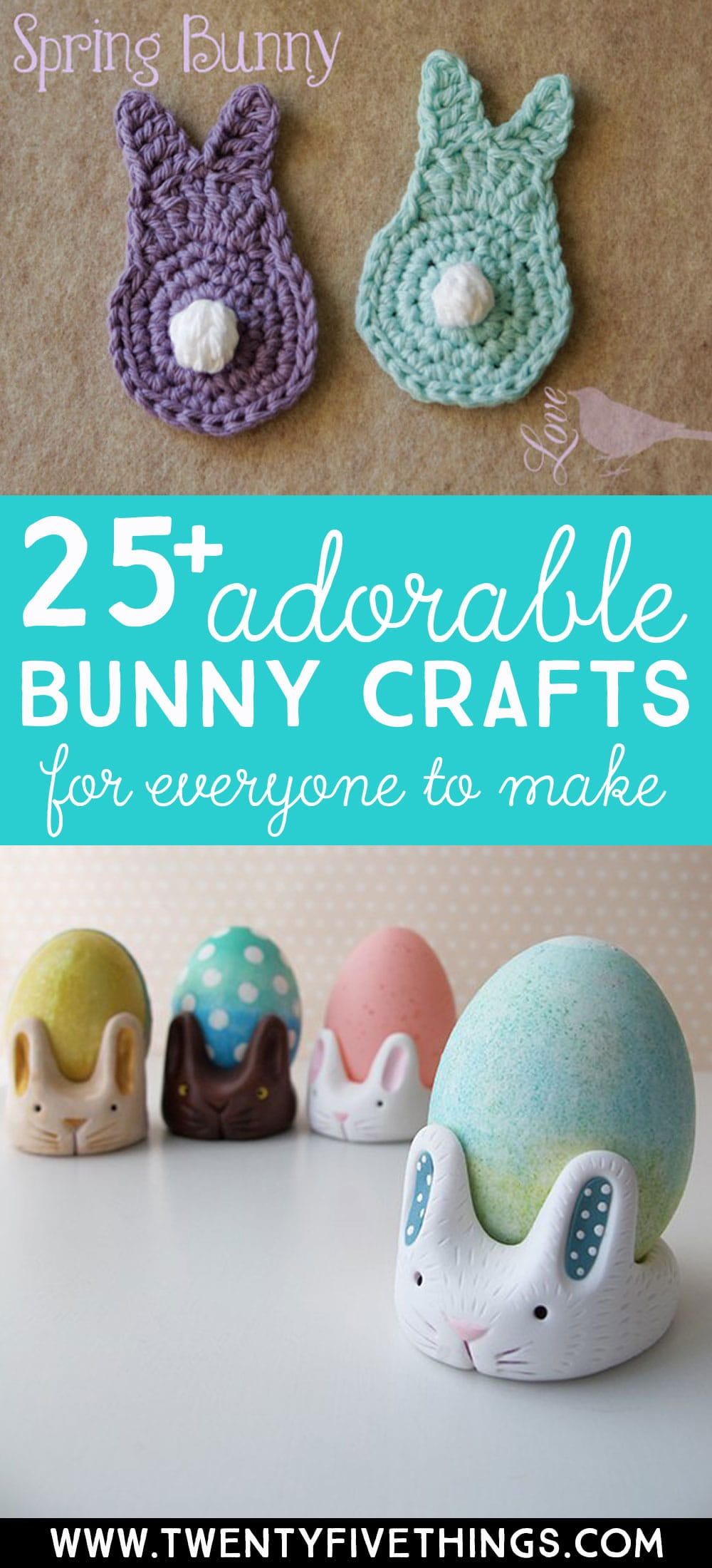 bunny craft ideas for spring: 25 fun and adorable ways to make a bunny. Easy and simple bunny craft ideas for everyone.