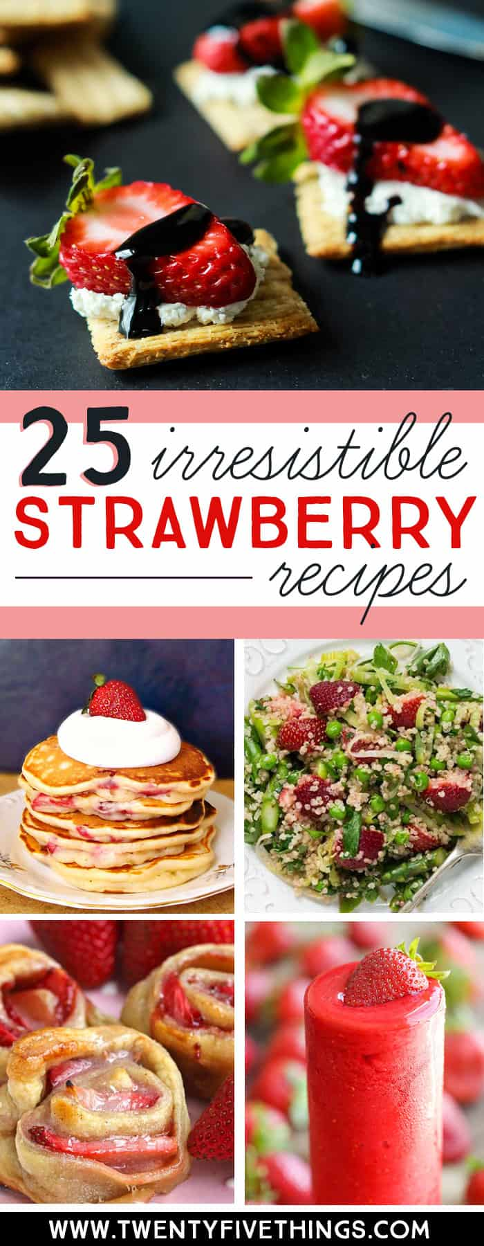 So many delicious strawberry recipes to choose from this strawberry season. Click through to see a ton of ways to use up your strawberry haul. #StrawberryRecipes