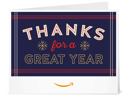 Printable Amazon Gift card for teacher appreciation week, Thanks for a Great Year