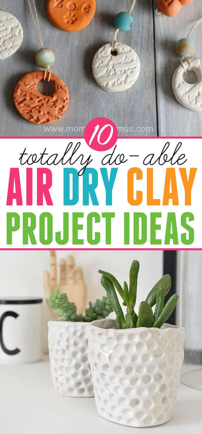 Things to make with air dry clay: Ten easy and beautiful projects using air dry clay. #craftprojects #clay #tutorials