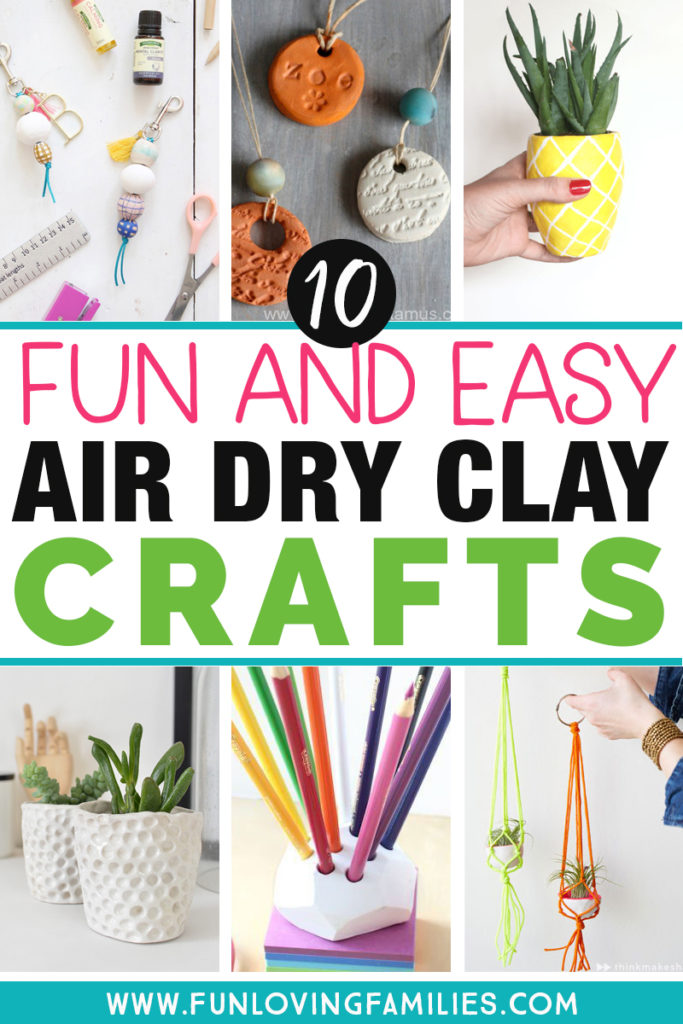 fun and easy air dry clay crafts