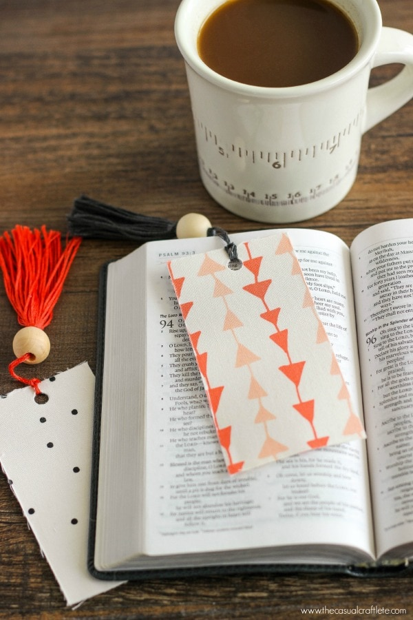 DIY fabric tassel bookmark. Gift idea for Teacher Appreciation Week. This site has some great teacher gift ideas.