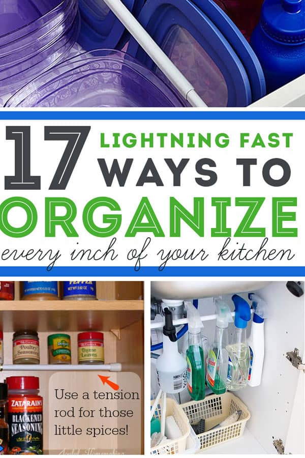 Ready to FINALLY organize your kitchen? Use these amazingly simple kitchen organization tips to control your kitchen clutter. #organizationhacks #kitchen