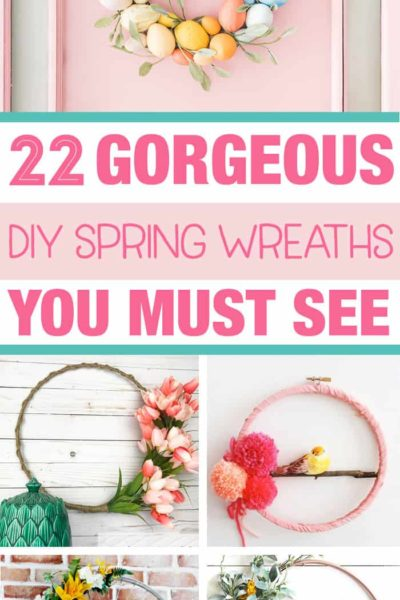 This is exactly what I needed to get some DIY spring wreath ideas. These are so pretty and make me so excited for Spring!