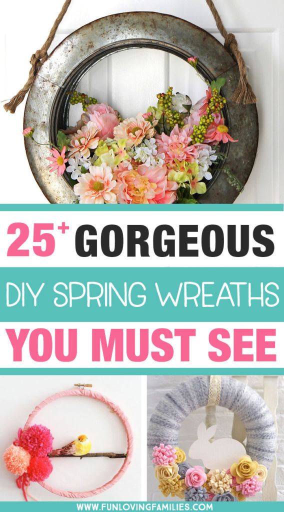 DIY farmhouse spring wreath and more styles to make yourself