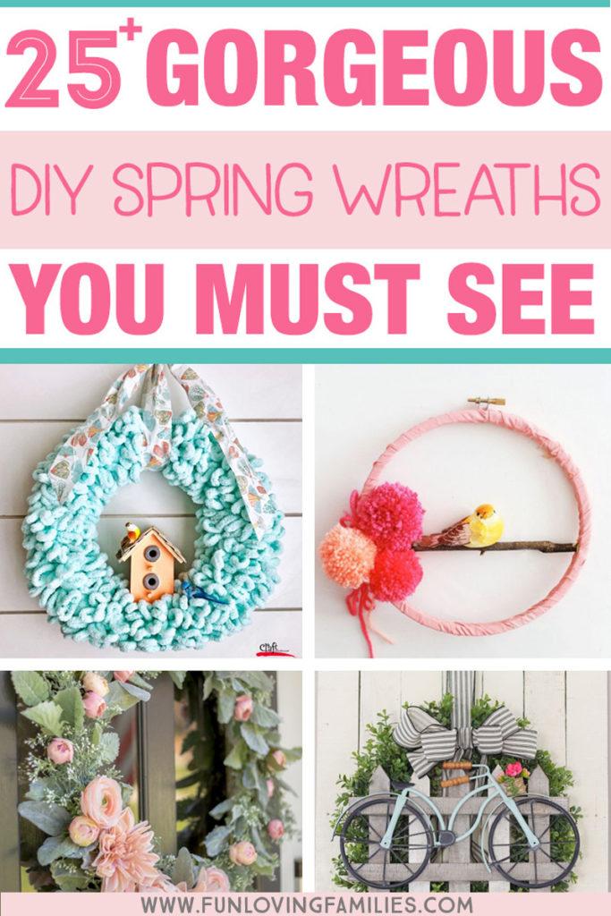 cute diy spring wreath ideas
