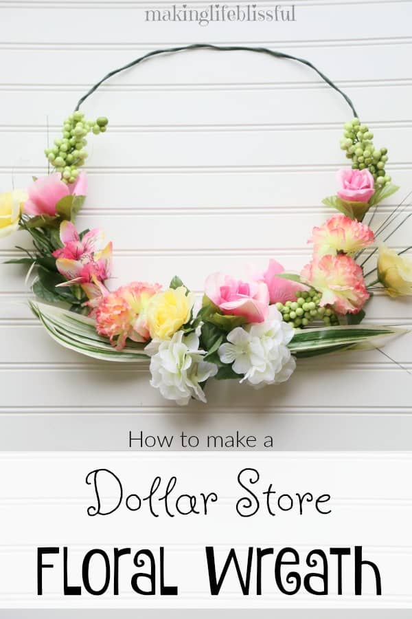 this is exactly what ive been looking for to start getting ready for spring - Spring Wreath Ideas