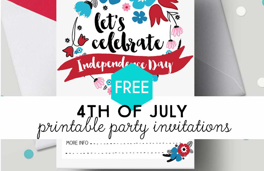4th of july free printable invitations fun loving families