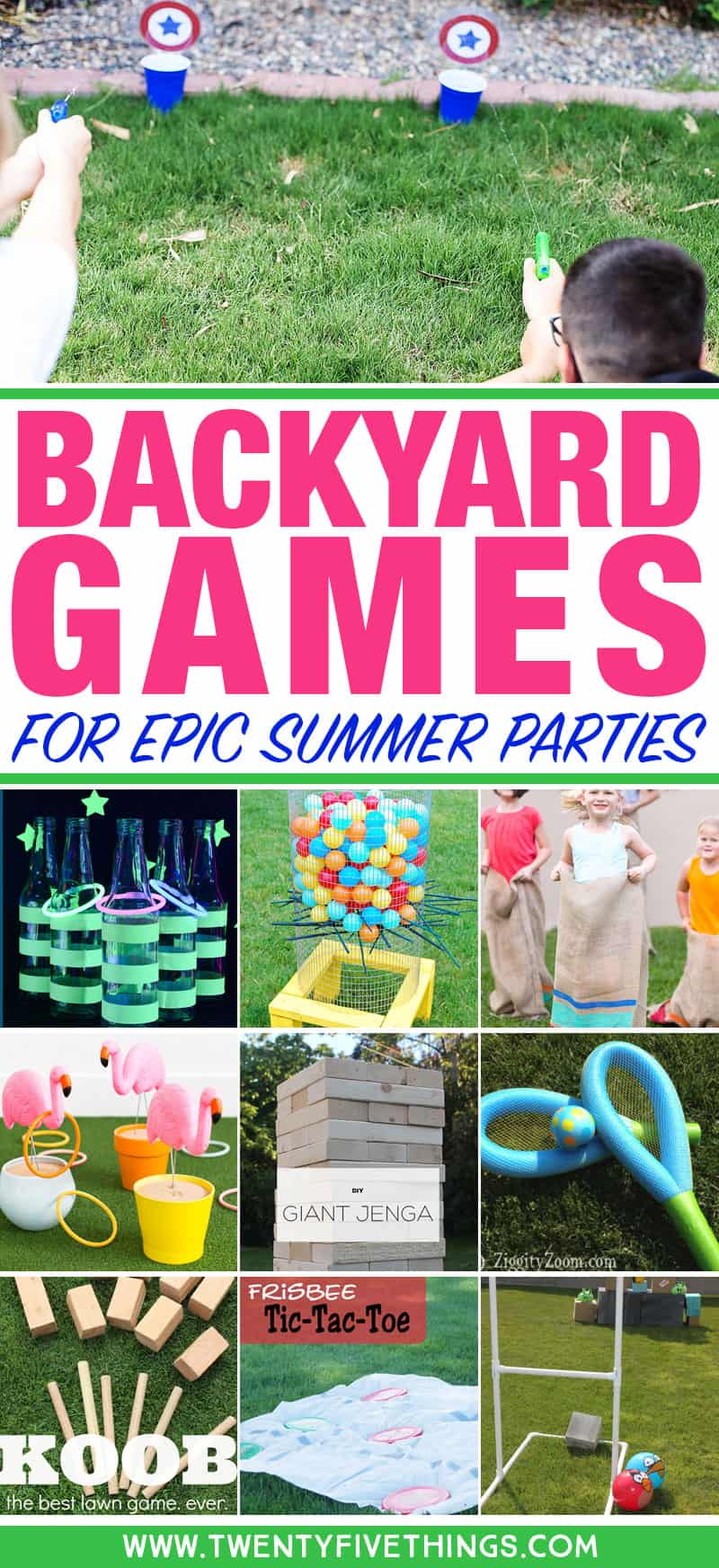25 Diy Backyard Party Games For The Best Summer Party Ever Fun