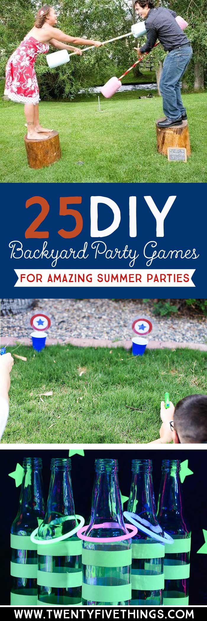 Use these fun DIY summer party games to plan your backyard parties for 4th of July, Memorial Day, birthdays and more!
