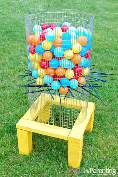 DIY Giant Kerplunk Backyard Party Game Plus Other Really Great Ideas For Fun