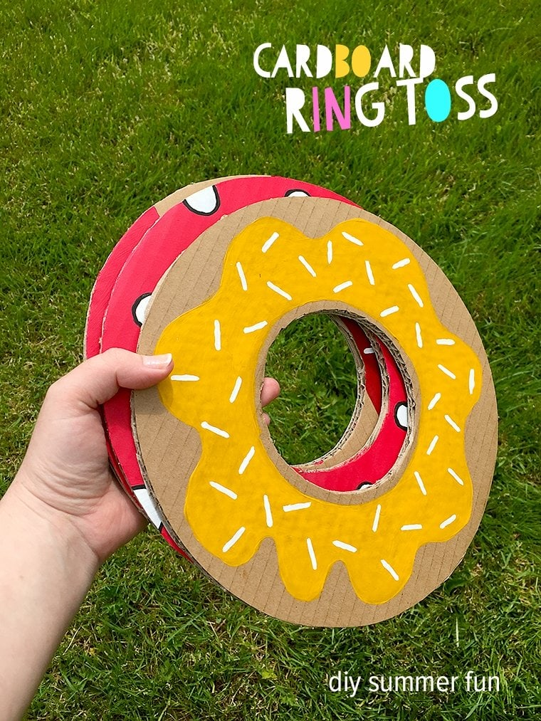 Fun and simple DIY backyard party game cardboard ring toss, plus really great ideas for fun DIY backyard party games: cardboard ring toss plus really great ideas for fun DIY backyard party games to try.