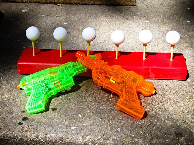 Fun Water Gun Ping Pong Target Game For Backyard Parties Plus Really Great Ideas
