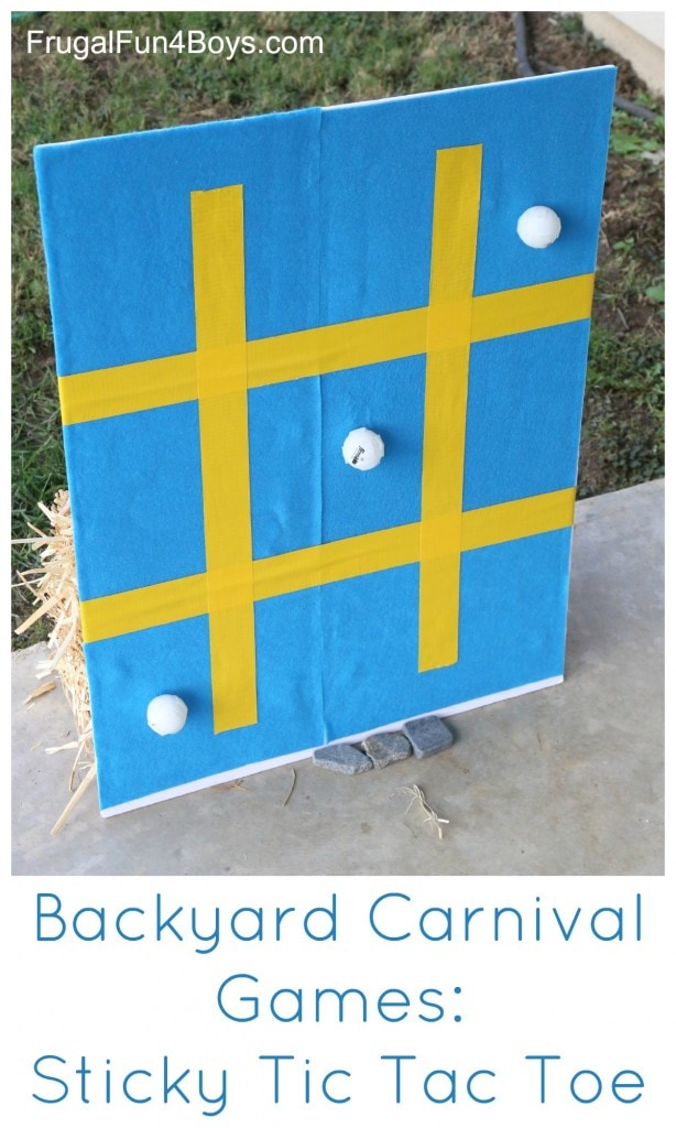 DIY backyard party game ideas for 4th of July party or summer birthday parties.