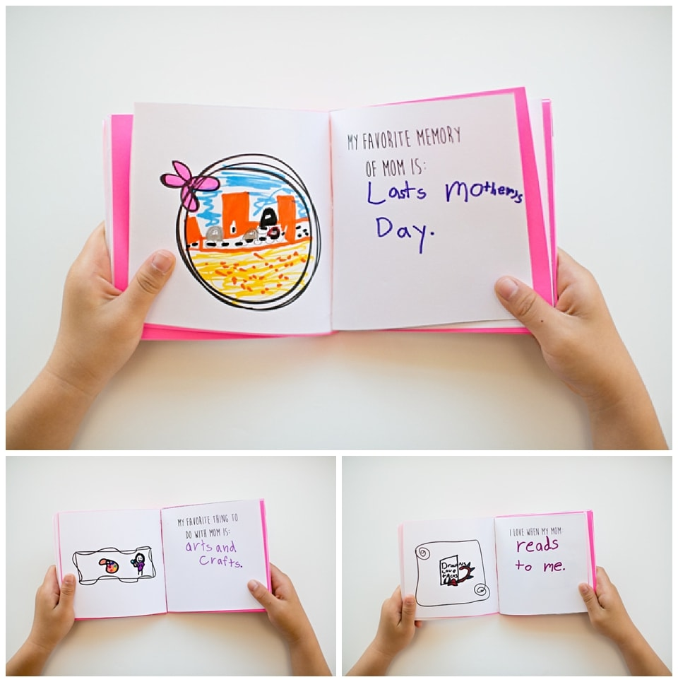 Handmade book from child: Things to make for Mother's Day. Lots of great ideas!