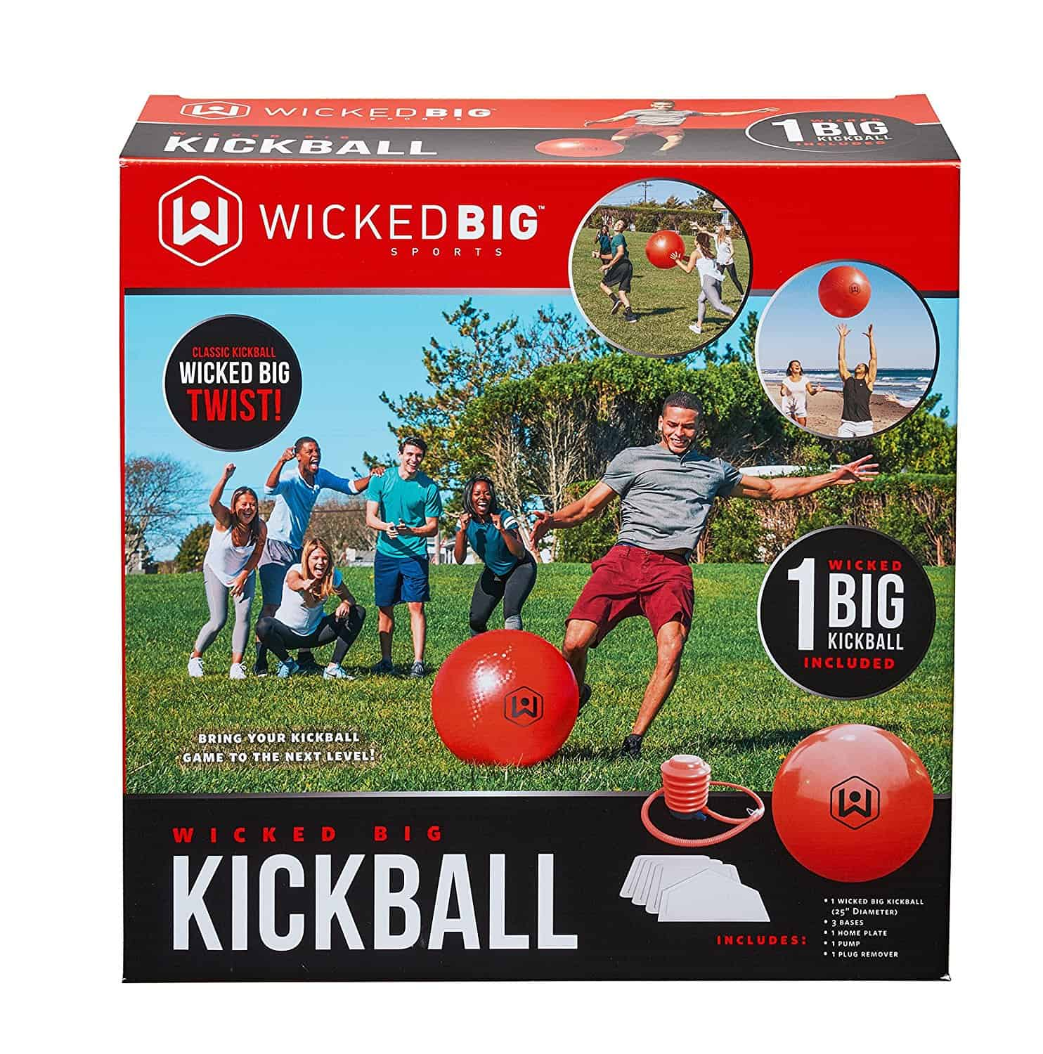 This Wicked Big Kickball game is tons of fun at a backyard BBQ or summer party. Kids and adults will love playing it.