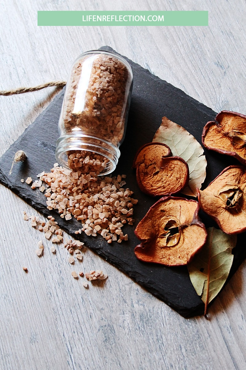 Soak yourself in the comforting scents of Fall with this baked apple bath salts recipe. Lots of other unique DIY spa treatments recipes here, too.