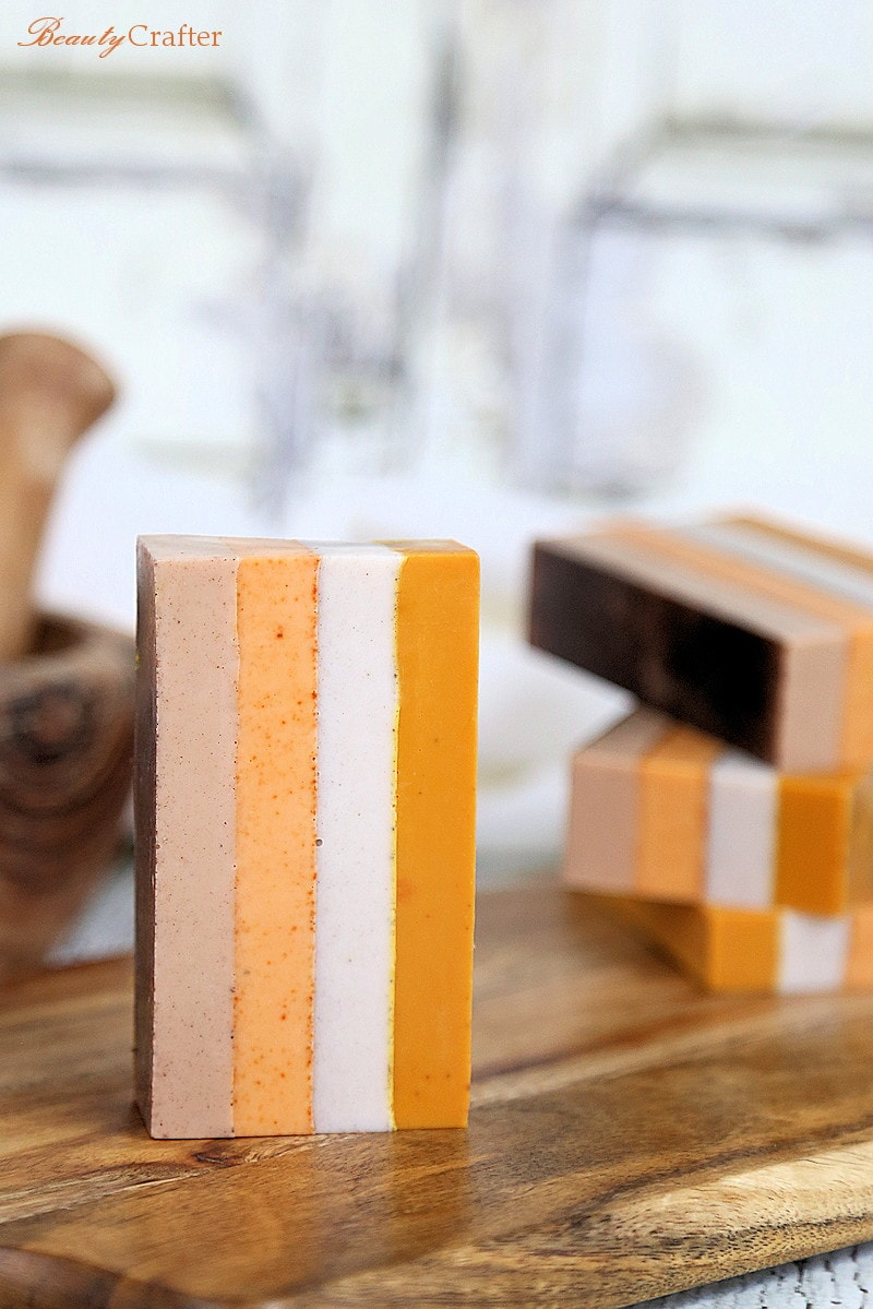 You can make these beautiful homemade soaps, perfect for DIY Fall Spa Treatments.