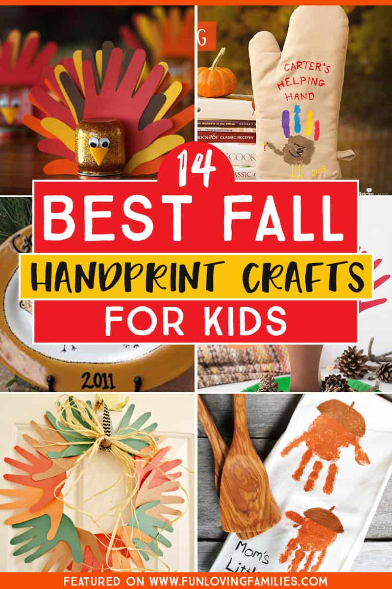 Fall and Thanksgiving handprint crafts for kids