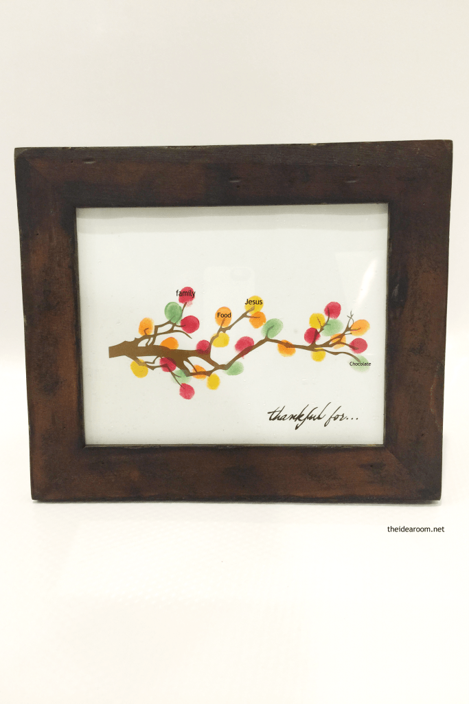 "Create a colorful Fall keepsake craft with the kids. This fingerprint ""leaf"" branch is simple to make and will be treasured for years."