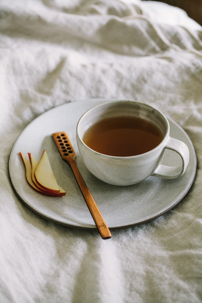 Ginger pear tea sounds perfect for a cool Fall night. Also must check out the other hot drink recipes.