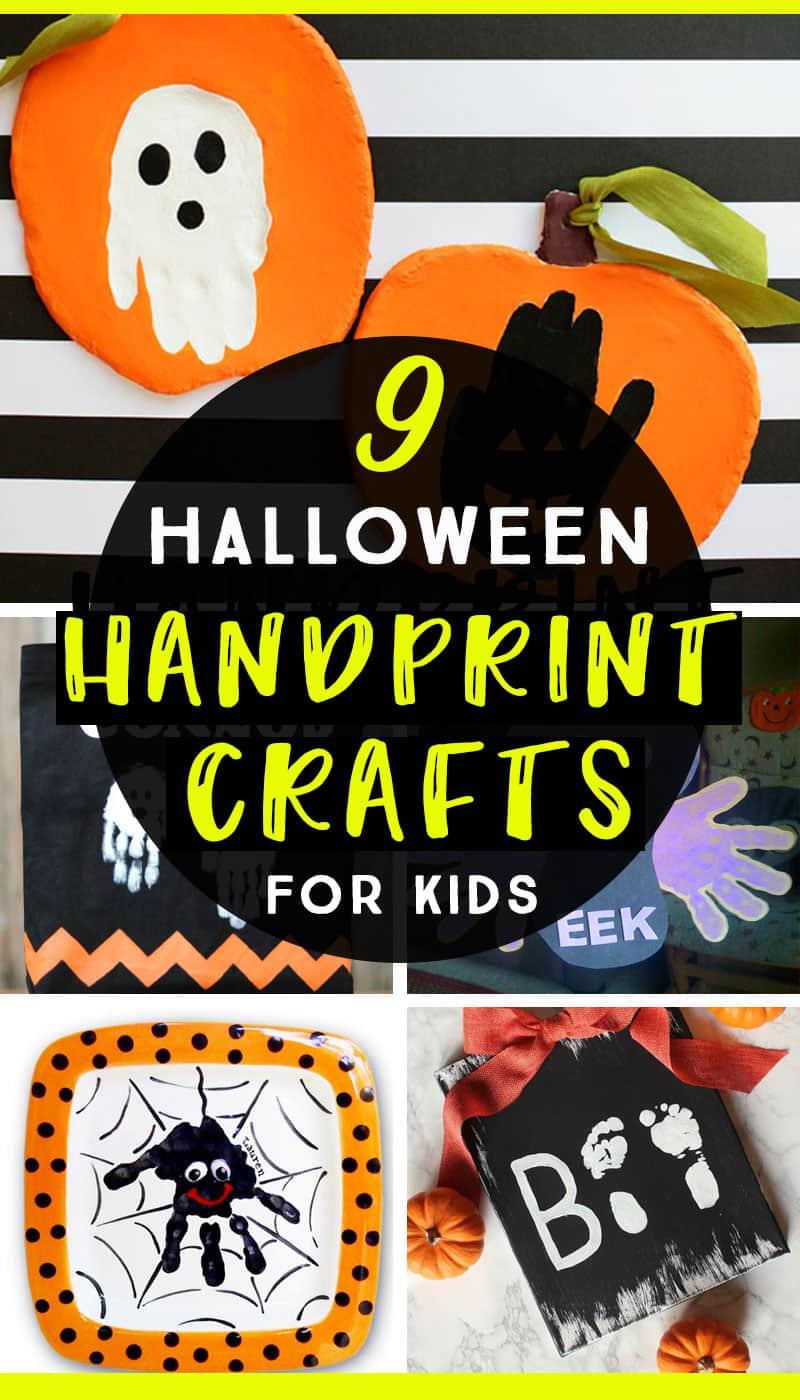 Make these adorable Halloween handprint and footprint crafts with the kids for keepsakes you'll want to save!