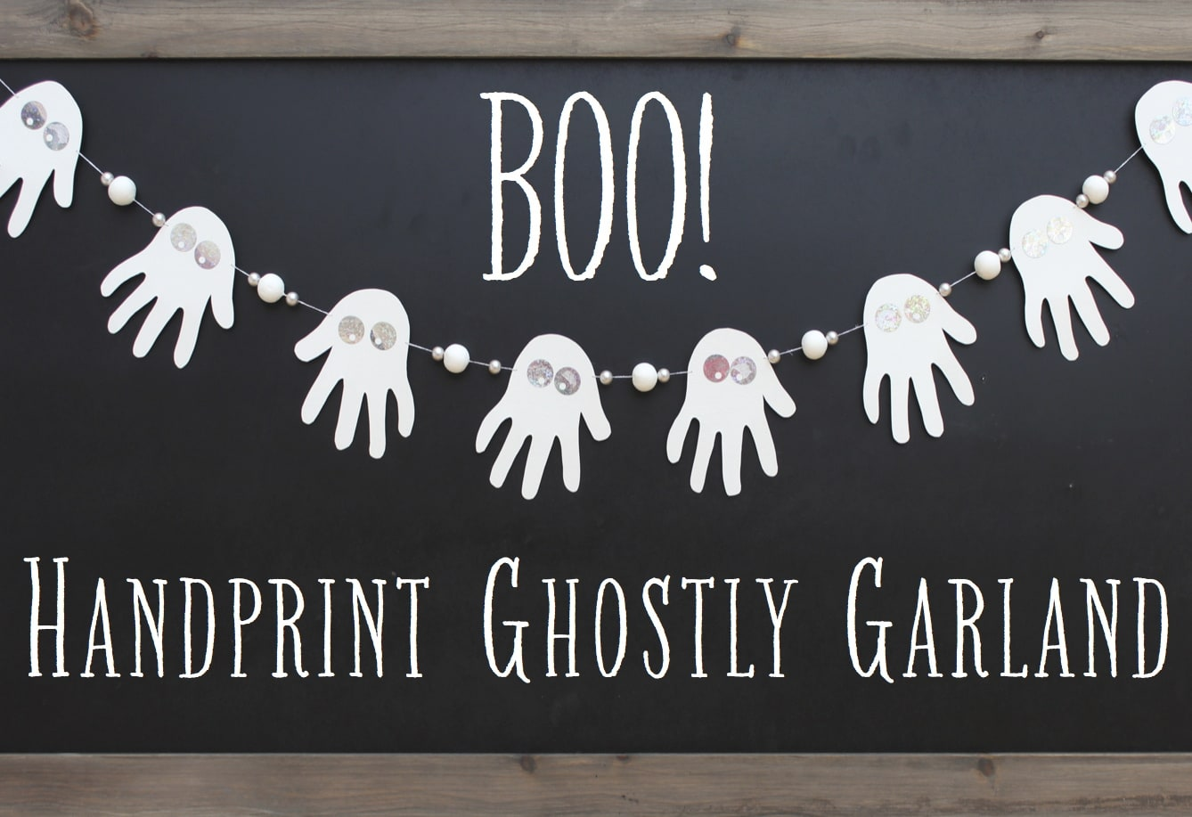 handprint ghost garland craft