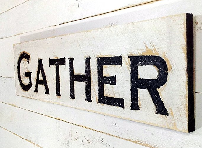 Gather wood sign from Amazon Handmade
