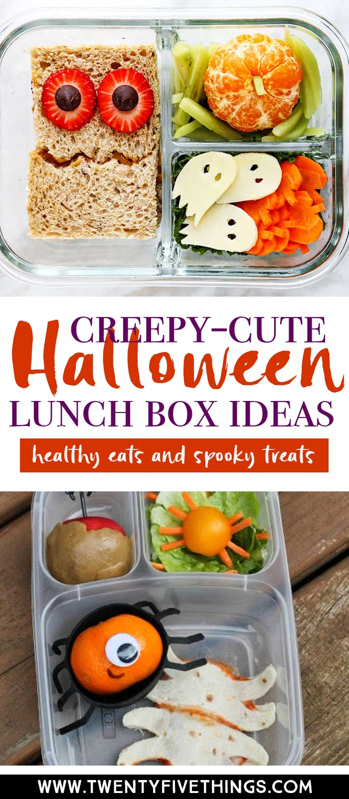 Get a ton of great ideas for your kids Halloween lunchbox to make something really fun that your kids will totally love..