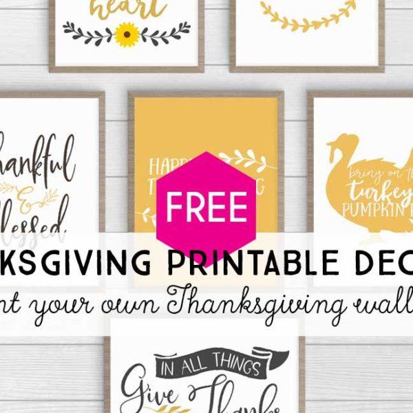 Thanksgiving Printable Decor: 12 Modern Farmhouse Prints in 2 Colorways