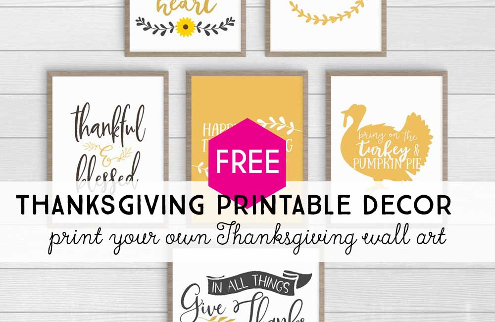 These free Thanksgiving prints will fit right into your farmhouse decor this year. All you have to do is download and print! #ThanksgivingDecor #FreePrintables #ThanksgivingQuotes