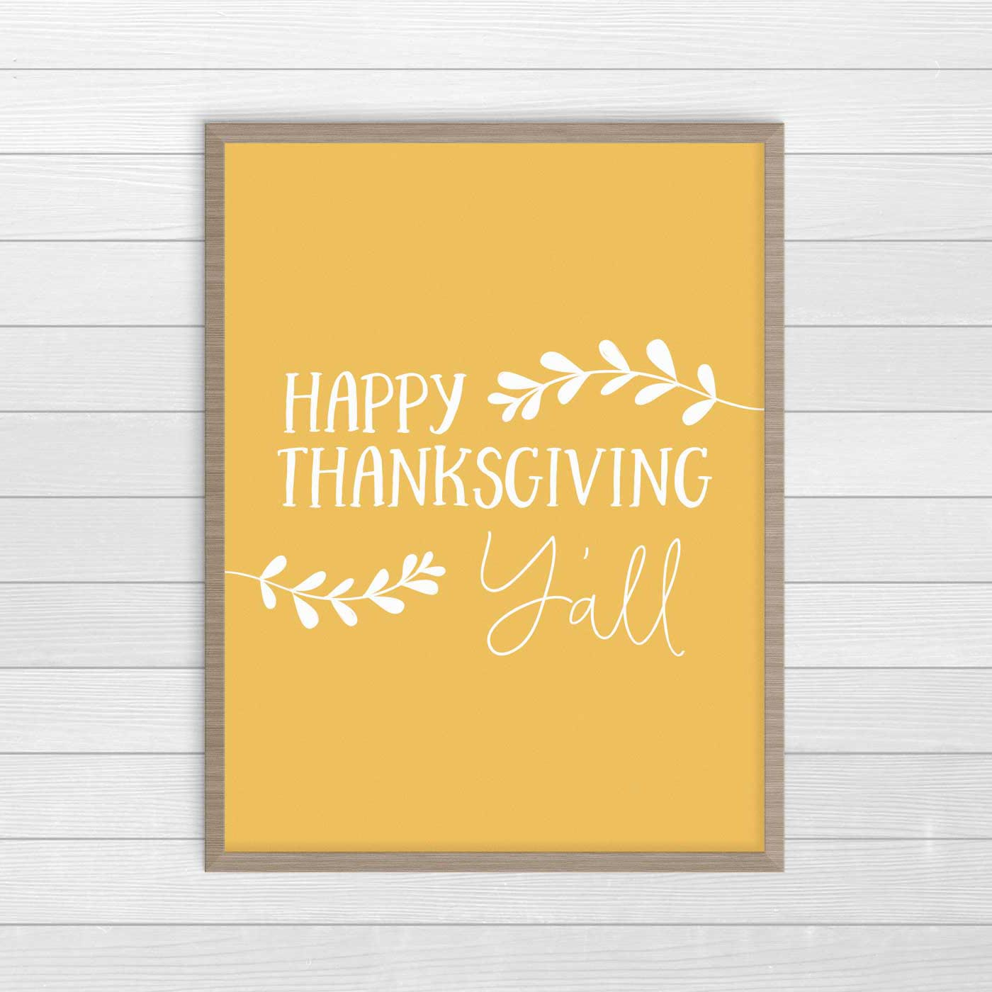 Download and print this casual Thanksgiving wall art print. #ThanksgivingDecor #FreePrintables