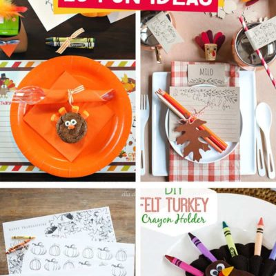 Thanksgiving Kids Table: 25 Crafts, Activities, and Games for Loads of Fun