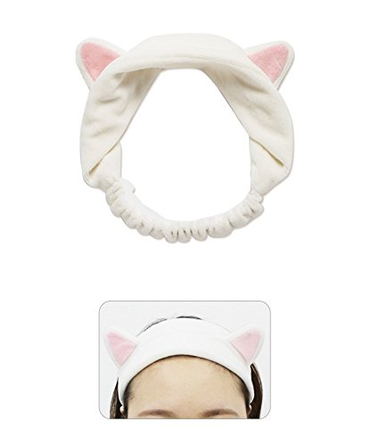 Adorable kitty terry cloth headband for fun home spa day