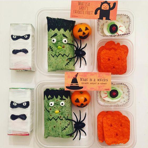 Creepy cute kids Halloween lunch idea from Instagram user Jennie_loves
