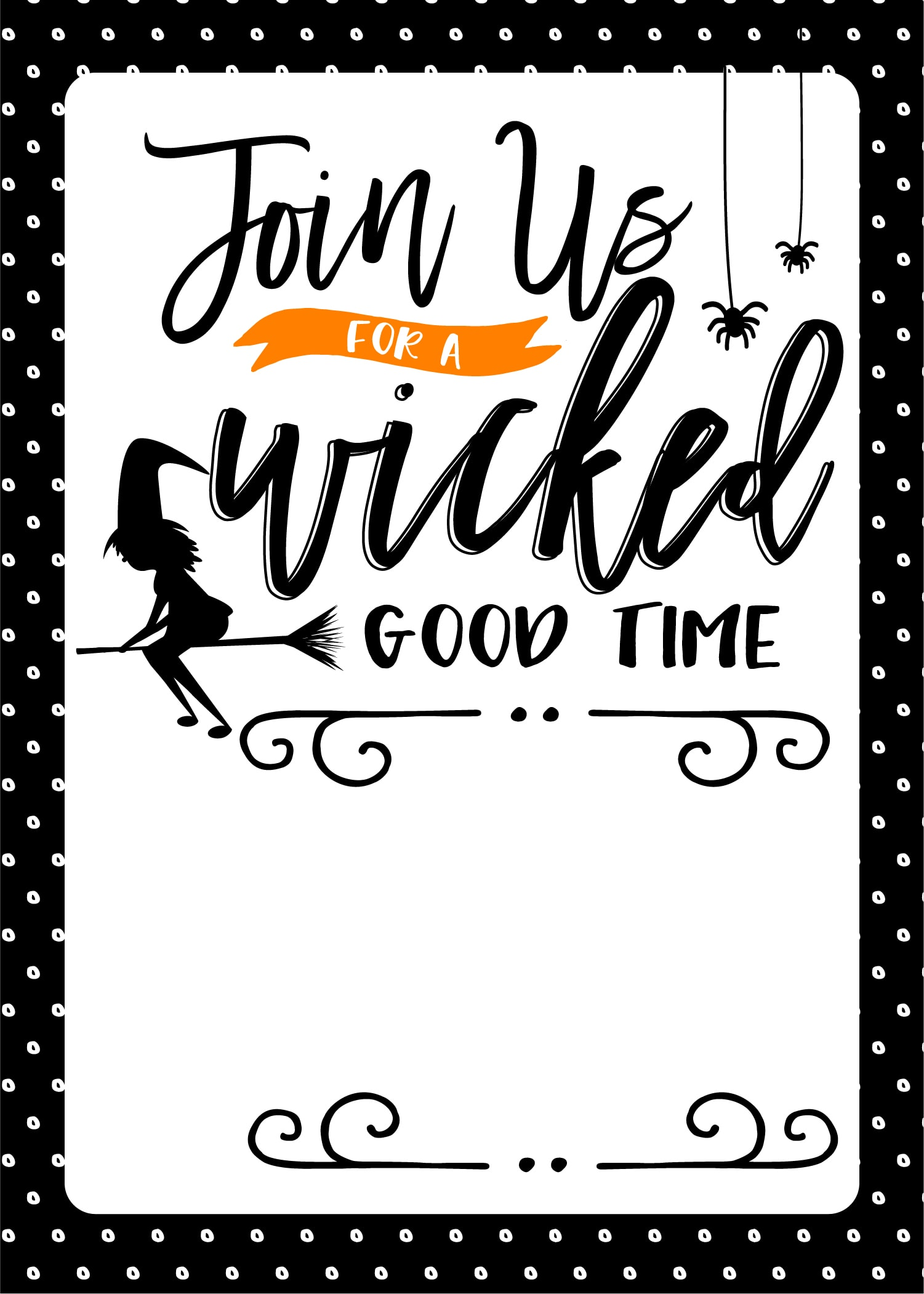 photo regarding Printable Halloween Party Invitations titled Free of charge Halloween Social gathering Printables - Enjoyable Loving Households