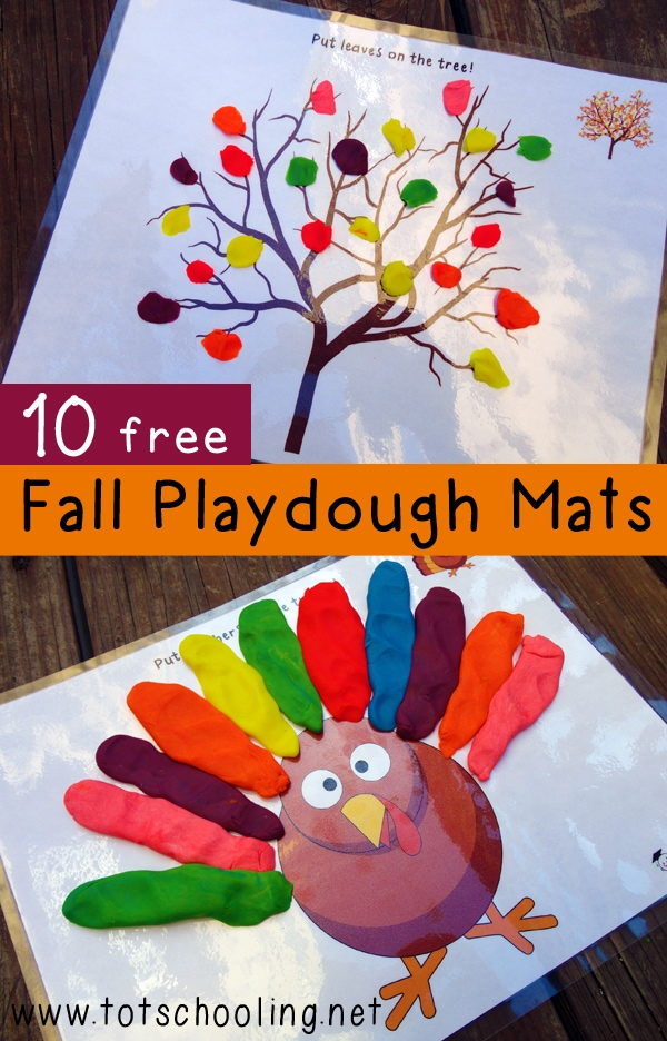Need to keep the little ones busy while they wait for Thanksgiving dinner? Download and print these playdough mats for a fun Thanksgiving kids table craft for preschoolers.
