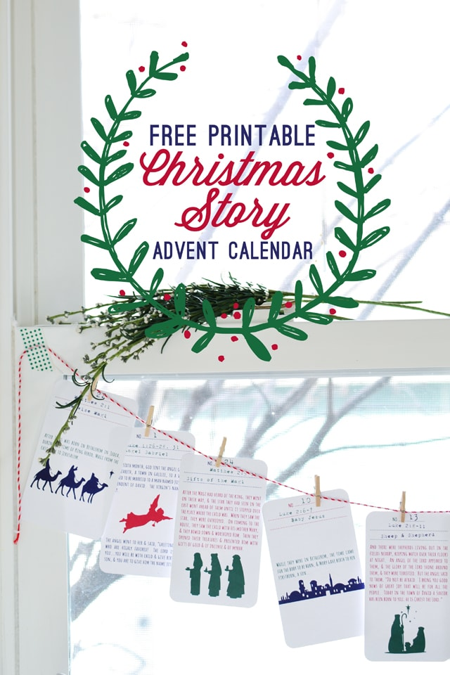 Print out this Christmas Story Advent Calendar activity for a faith-based Christmas Countdown. #AdventCalendar #FreePrintables #ChristmasCountdown